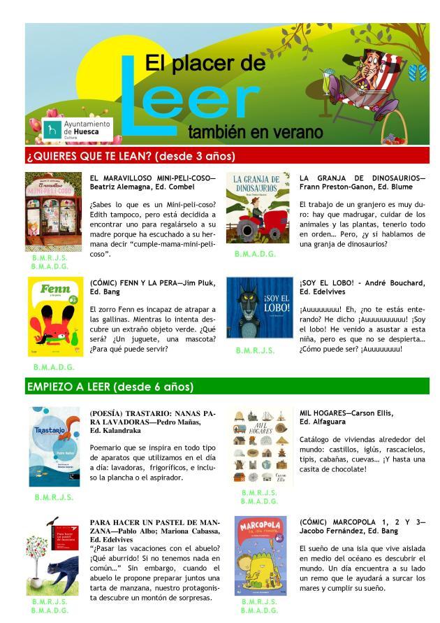 El placer de leer también en verano 2016